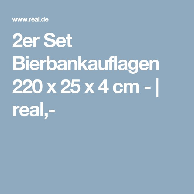 Cool er Set Bierbankauflagen x x cm real Bierbank Pinnwand Pinterest