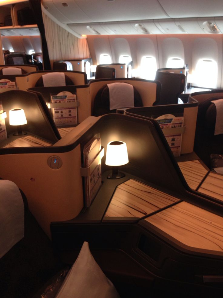 China Airlines B777-300ER Business Class cabin