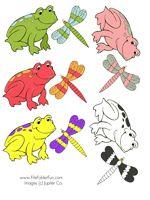 Frog Matching File Folder GameObstacle Course, File Folder, Filefolder
