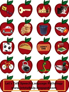 Free download! Apple Articulation for phonemes /k/, /g/, and /s/. Great for preschoolers and young learners! From Let's Talk Speech-Language Pathology!