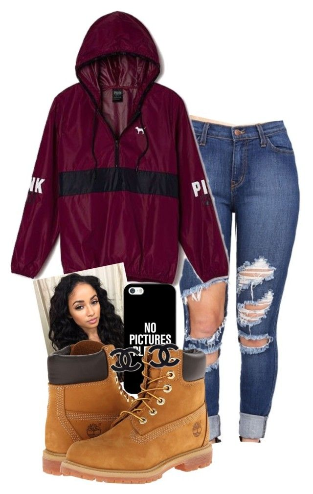 """"" by queenxdali ❤ liked on Polyvore featuring Victoria's Secret, Casetify and Timberland"