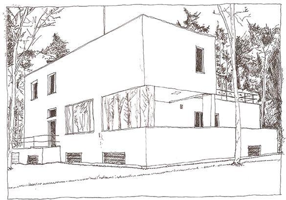 Walter Gropius, House for the Bauhaus Teachers, Dessau, Germany