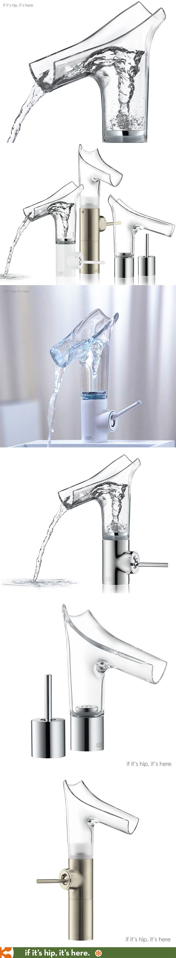 Transparent water faucets unveiled at Salon del Mobile. So cool. Link has more info.: