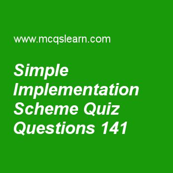 Learn quiz on simple implementation scheme, computer architecture quiz 141 to practice. Free computer architecture and organization MCQs questions and answers to learn simple implementation scheme MCQs with answers. Practice MCQs to test knowledge on simple implementation scheme, two spec benchmark test, designing and evaluating an i/o system, 32 bits mips addressing, introduction of memory worksheets.  Free simple implementation scheme worksheet has multiple choice quiz questions as set…