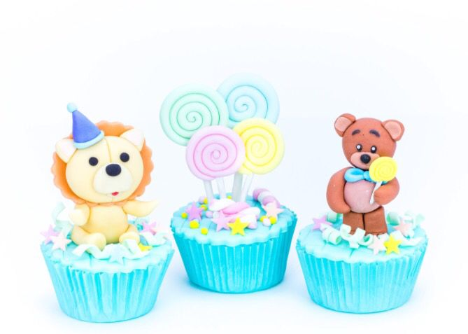 Animals party cupcake