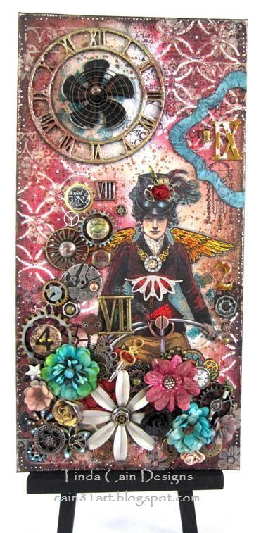FRIENDS in ART: Steampunk Lady Collage