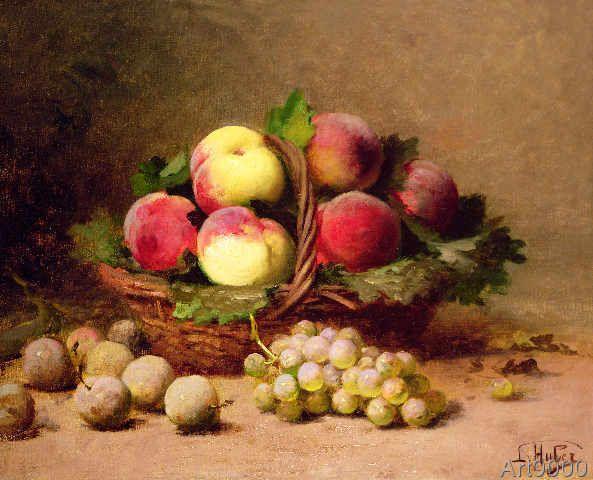 Leon-Charles Huber - Still life of fruit