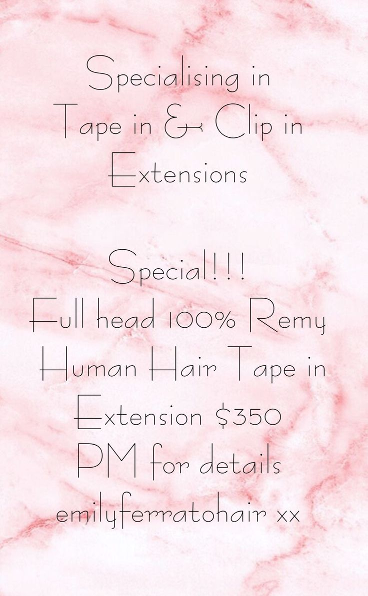 Hair Extensions Specials Melbourne Based