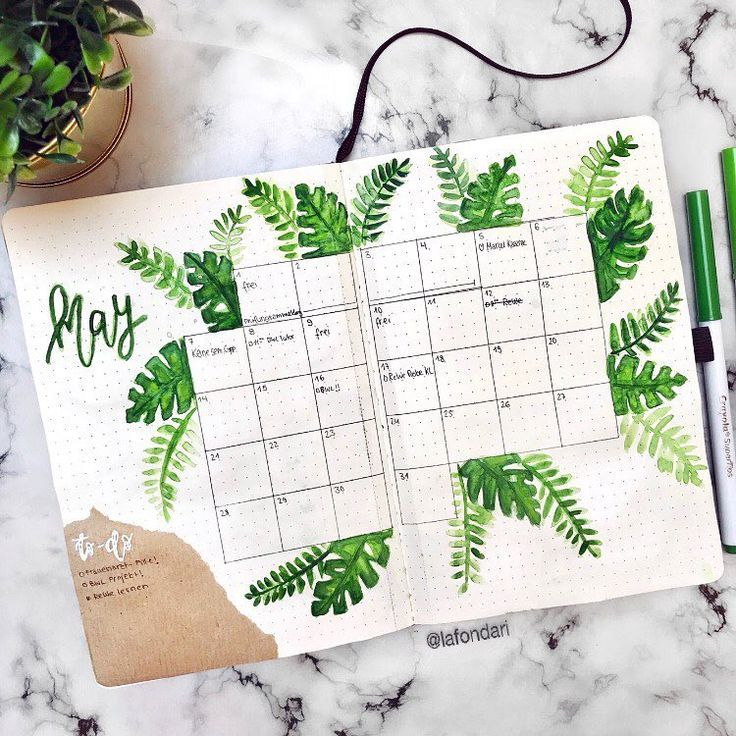 17 Lovely Ideas For Your Bullet Journal Monthly Sp…