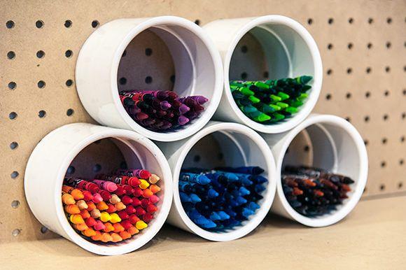 DIY PVC Crayons and markers organizer!