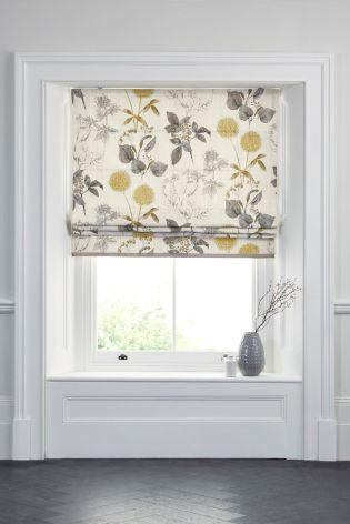 Natural Botanical Floral Print Roman Blind