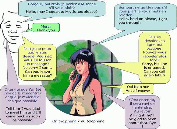 dialogue formel au téléphone