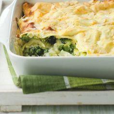 Ovenschotel met witte kool (of savooikool), hazelnoten, champignons en aardappelen