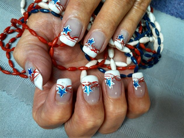 517 best 4th of july nail art images on pinterest pretty nails americas swirls by aliciarock from nail art gallery prinsesfo Choice Image