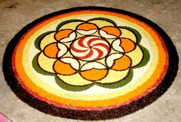 Onam Pookalam Trends,How to make pookalam