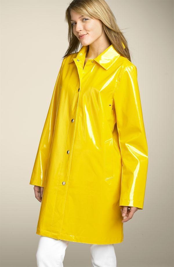 Details about tommy hilfiger women's jacket slicker raincoat vinyl plaid rain coat size