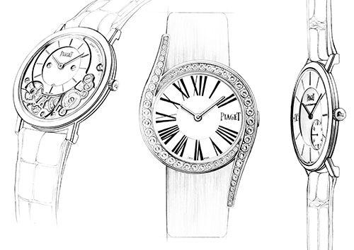 Illustration montre Piaget Florence Gendre #Piaget #montres #Fashion