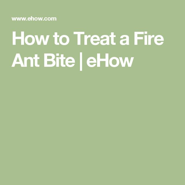 How to Treat a Fire Ant Bite   eHow