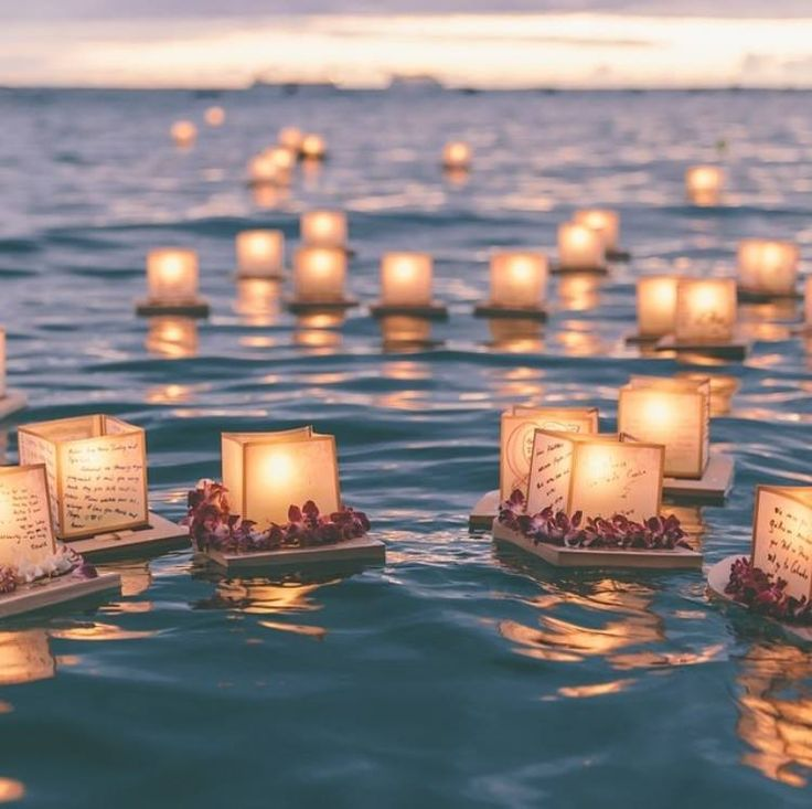 Image result for Japanese lights on water