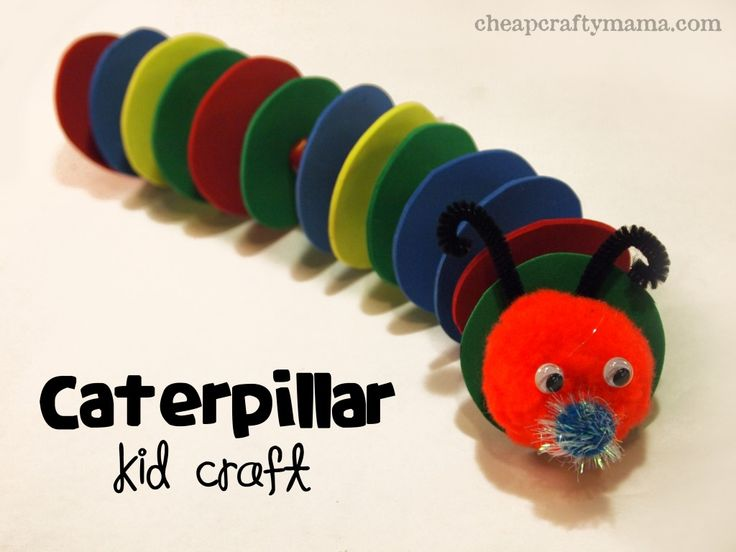 """C"" is for Caterpillar- kid craft from Cheap Crafty Mama!"