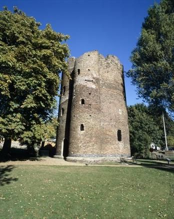Cow Tower, Norwich.    One of the earliest purpose-built artillery blockhouses in England, this brick tower was built in c.1398-9 to command a strategic point in Norwich's city defence.  Photo via English Heritage