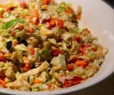 """Coleslaw with Tahini Honey """"Mayo"""" 