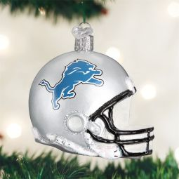 Old World Christmas®️️ Detroit Lions NFL Football Helmet Ornament direct from the ChristmasOrnamentStore.com