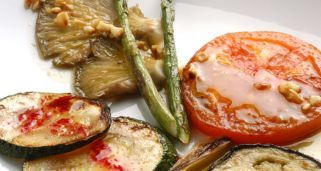 Receta de Parrillada de verduras con vinagreta