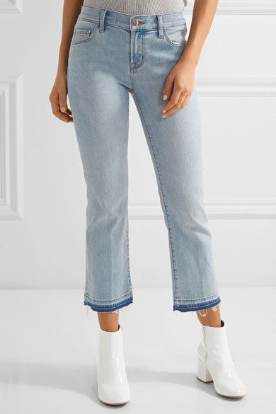 J Brand - Selena Cropped Mid-rise Bootcut Jeans - Light denim - 32