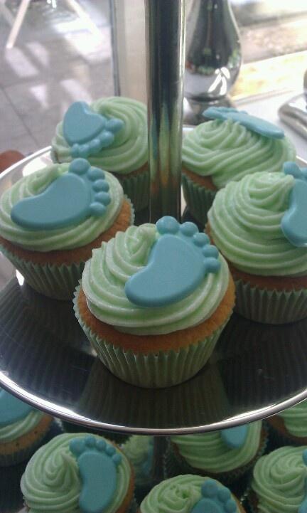 Boy babyshower cupcakes.. gemaakt voor mijn vriendinnetje!