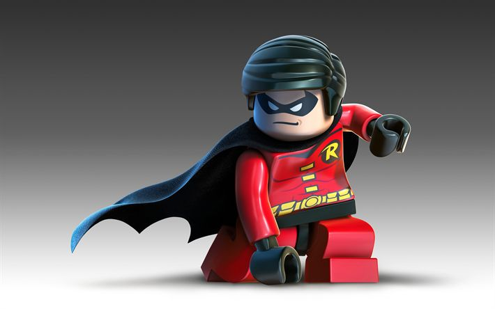 Download wallpapers Robin, 4k, 2017 movie, 3d-animation, The LEGO Movie