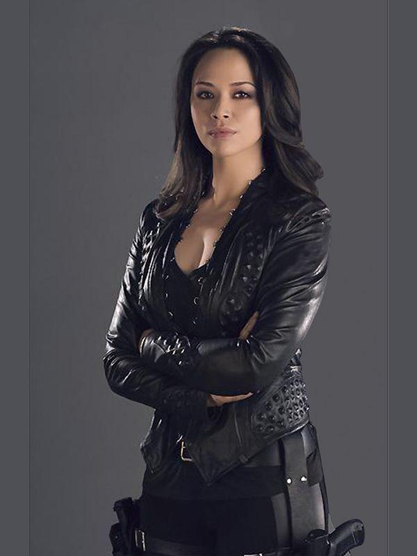 Melissa O Neil Dark Matter Leather Jacket Leather Jacket Dark Matter Collarless Leather Jacket