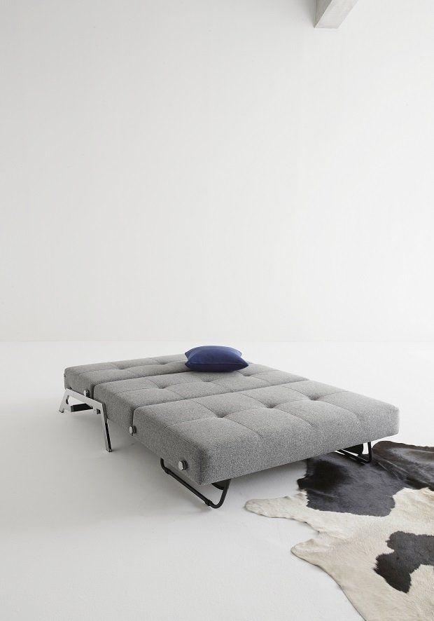 Canapé lit design  CUBED GRIS  convertible 200*140