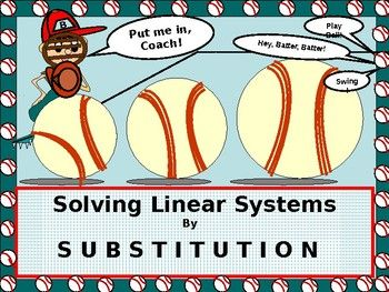 So happy to share this lesson on Solving Systems of Equations using the SUBSTITUTION METHOD. * Feeling confident in the students' ability to quickly adapt to the steps clearly outlined for them in the lesson! * Students walk through an example using the well-defined steps that are involved in the Substitution Method. *