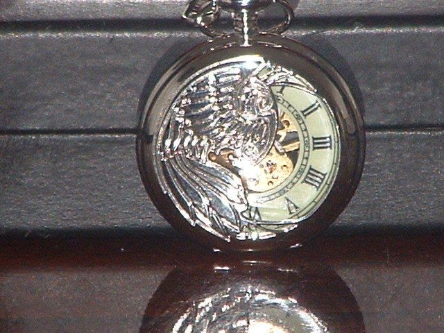 New Silver Phoenix Luminous Hand Mechanical Pocket Watch #mensfashion #pocketwatch