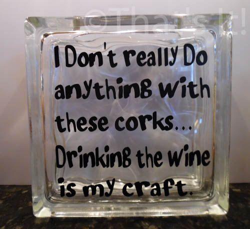 wine cork holder glass block cork collector by ThatsItforLess
