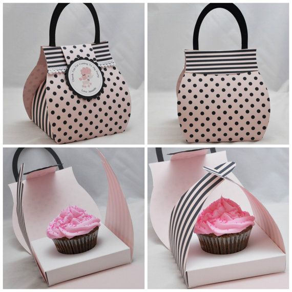 Poodle Cupcake Box Purse - Favor Bag