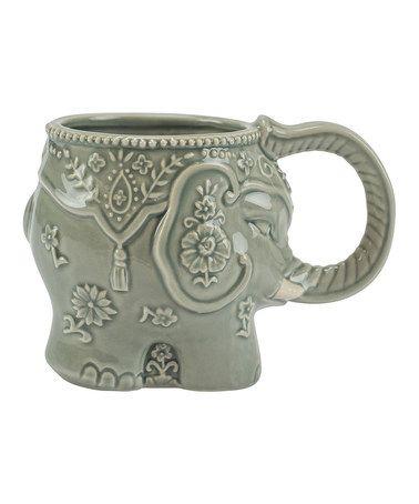 Look at this #zulilyfind! Gray Elephant Stoneware Mug #zulilyfinds