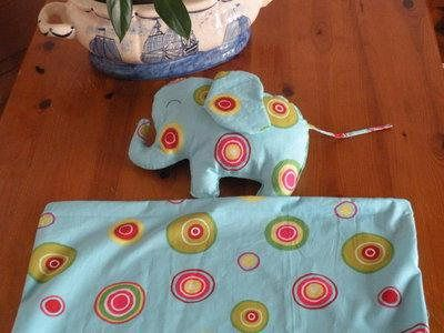 Cuscino elefante e copripiumino