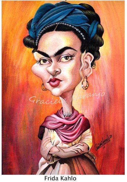 Frida Kahlo Técnica: aguada y lápices de color