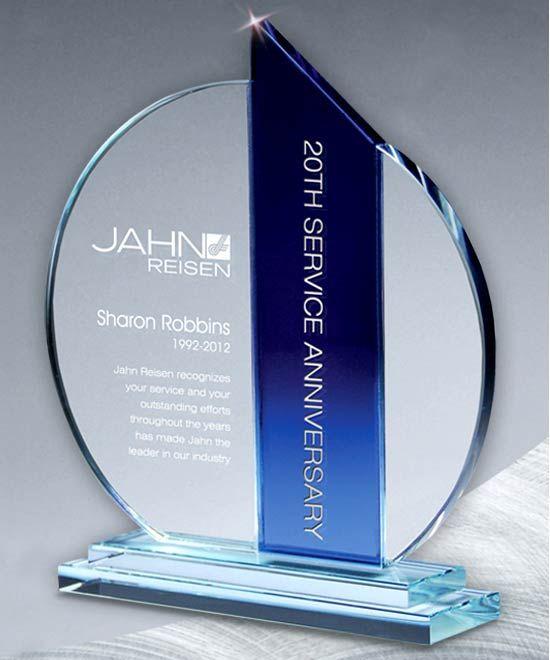 Atlantis Ellipse Crystal Award