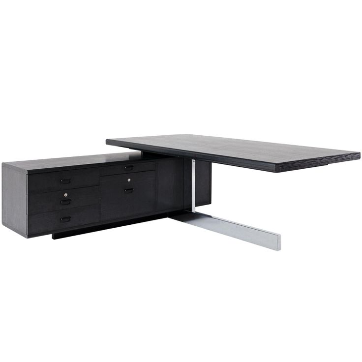 black and chrome furniture. 1stdibscom large executive desk with black ebonized finish and chrome base furniture