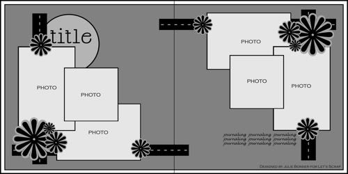 6 photos #12x12 #sketch #doublepage