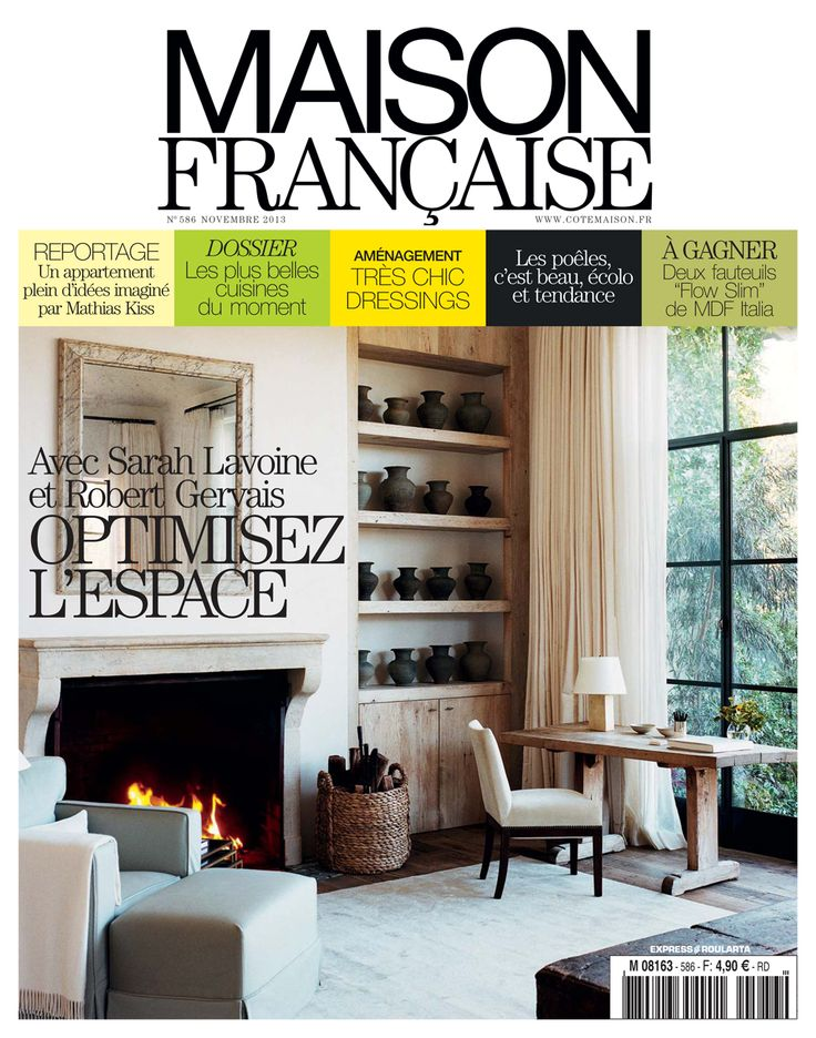 maison fran aise november 2013 home decor magazines pinterest november. Black Bedroom Furniture Sets. Home Design Ideas