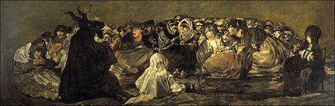 Goya, fallecido en 1828 demuestra en sus obras tardías un interés romántico por lo irracional. Destacan, en este período, las Pinturas negras de la Quinta del Sordo