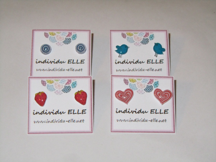 handmade earstuds - whichever shape you desire! By www.INDIVIDU-ELLE.net