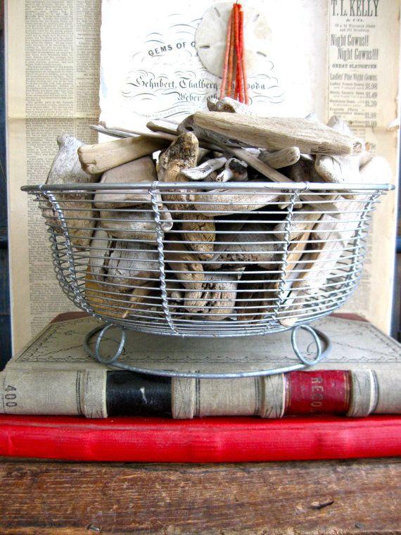 A Very Decorative Vintage Wire Basket