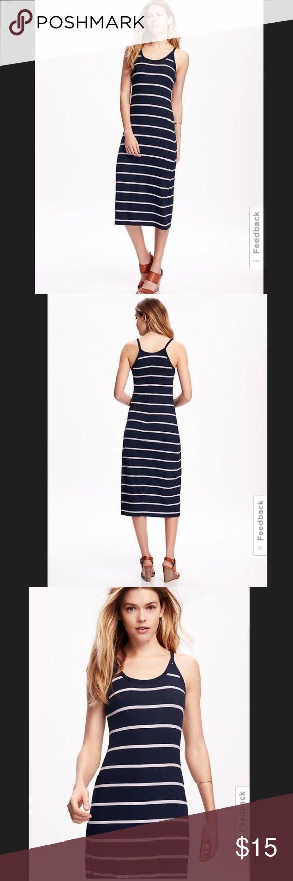 Rib-Knit Halter Midi Dress for Women Midi length. Dress hits below knee. Fitted through body. Old Navy Dresses Maxi