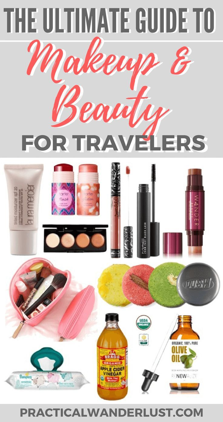 Staying gorgeous while traveling isn't the easiest task. After months of backpacking, I've found the best makeup for travel! Read my ultimate guide to makeup & beauty for travel for beauty tips, product recommendations, skincare advice, and multi|}-taskin