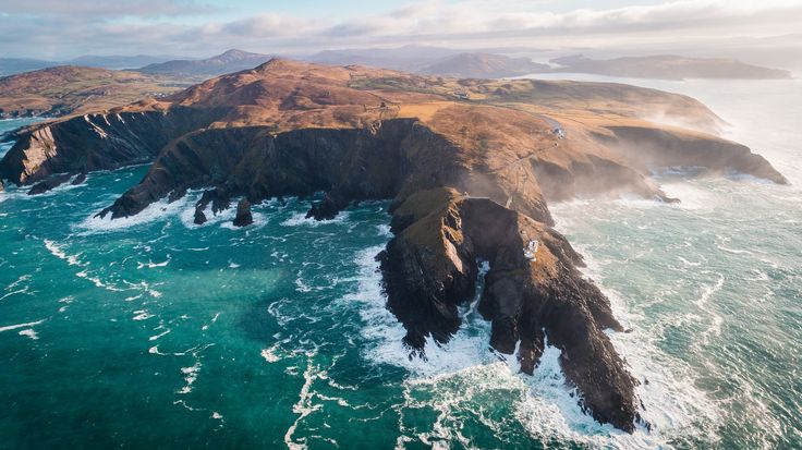 Looking down the dramatic Coast of Ireland by Johannes Hulsch